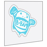 Custom Promotional Stickers Seattle Front Adhesive