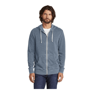 Custom Printed Branded Corporate Logo Hoodie Seattle: Alternate Burnout Men's Fleece Full Zip