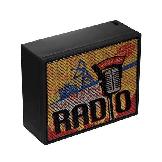 Custom Printed Corporate Logo Speaker Seattle: Budget Bump Rechargeable Battery Wireless Bluetooth