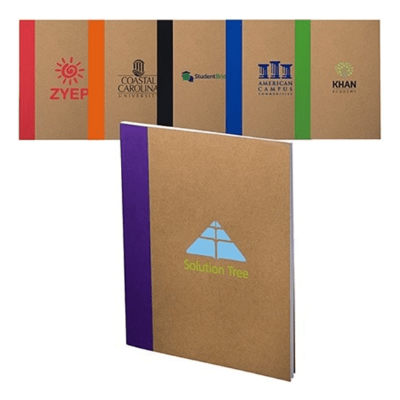 Custom Printed Promotional Corporate Logo Seattle: Color-Pop Recycled Paper Notebook