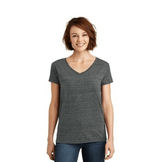 Custom Screen Printed Corporate Branded Promotional T-Shirt Seattle: District Made Ladies' V-Neck