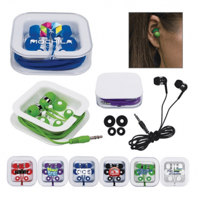 Promotional and custom earbuds