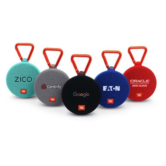 Custom Printed Corporate Logo Speaker Seattle: JBL Clip 2 Waterproof Wireless Bluetooth