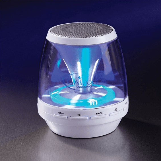 Custom Printed Corporate Logo Speaker Seattle: Light Show Wireless Bluetooth