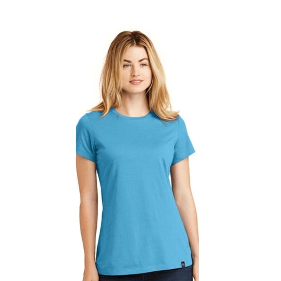 Custom Screen Printed Corporate Branded Promotional T-Shirt Seattle: New Era Ladies' Heritage Blend Crew