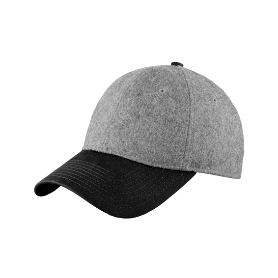 Corporate Logo Hats Seattle: New Era Melton Wool Heather