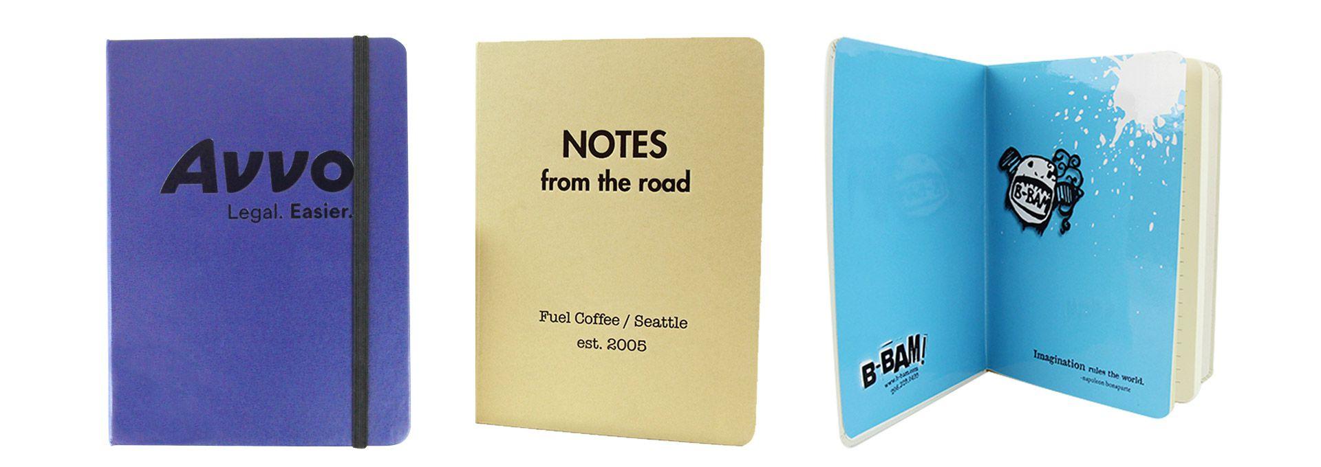 Custom Printed Promotional Corporate Logo Notebooks Seattle