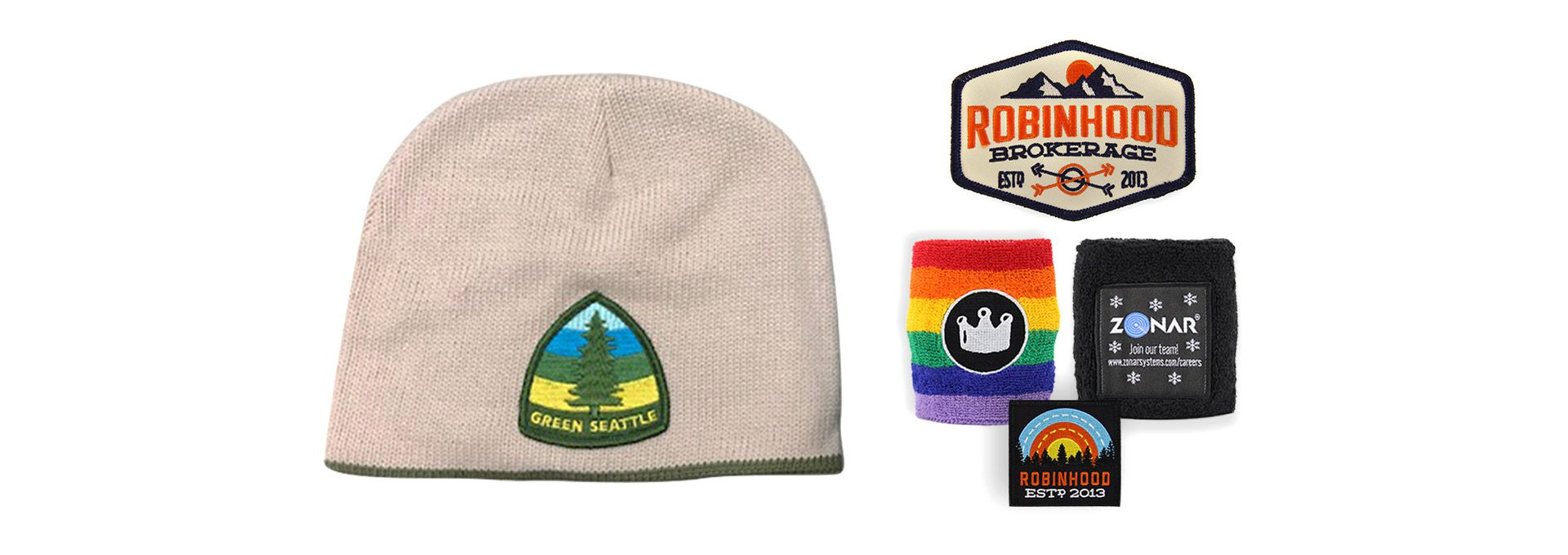 Custom Branded Patches  Seattle Embroidery + Seattle Screen Printing + Seattle Promotional Products