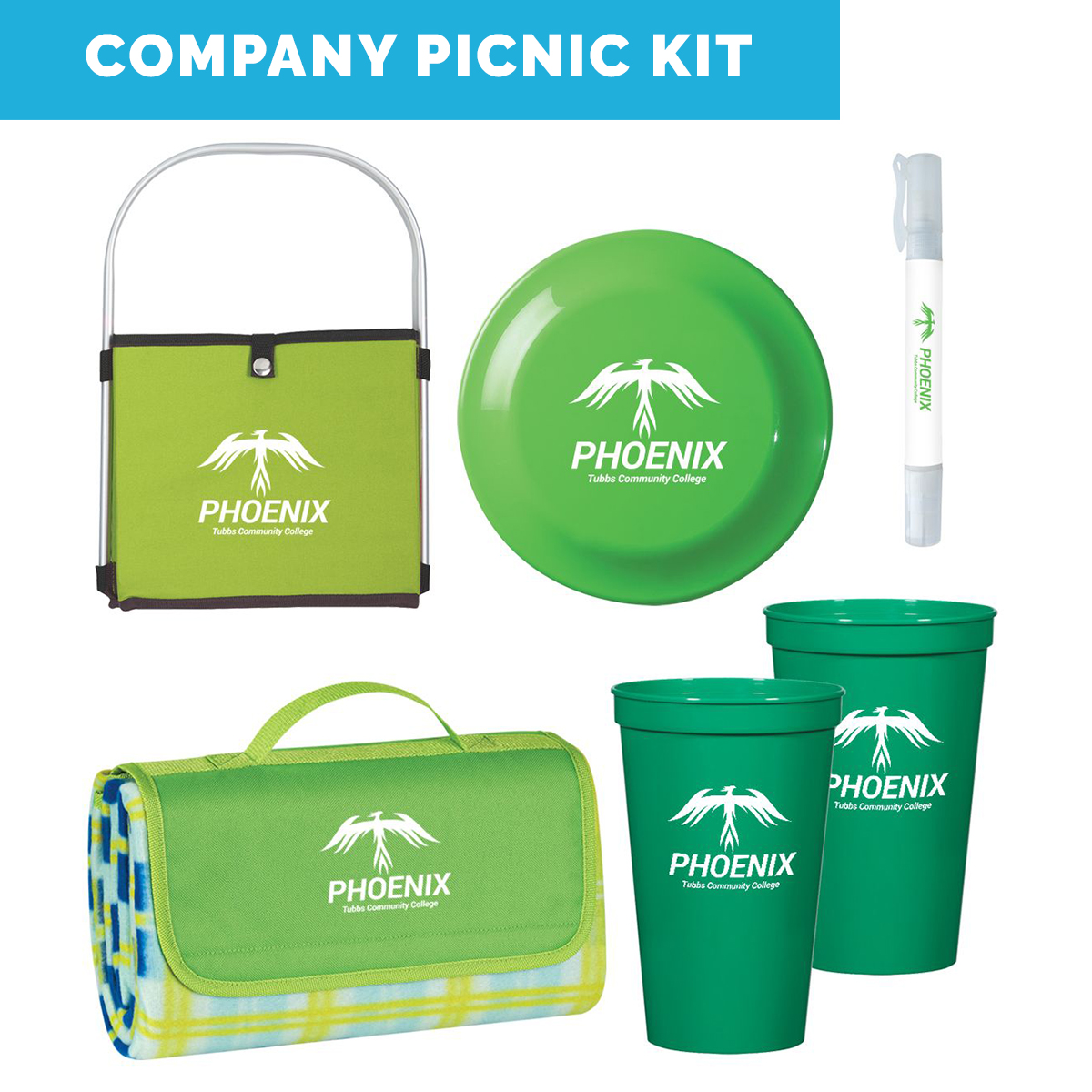 SOCIAL DISTANCING COMPANY PICNIC KIT-Work From Home Kits