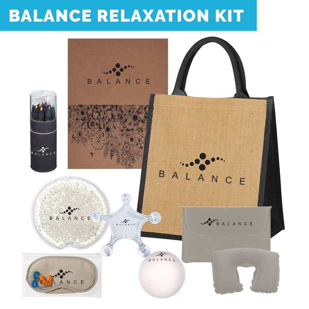 Work From Home Kits-custom printed spa relaxation kit, home spa kits