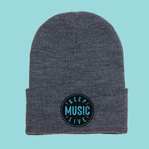 Keep Music Live Beanie with Patch