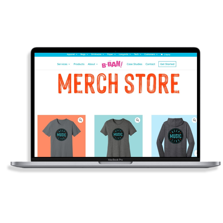 web store- Keep Music Live