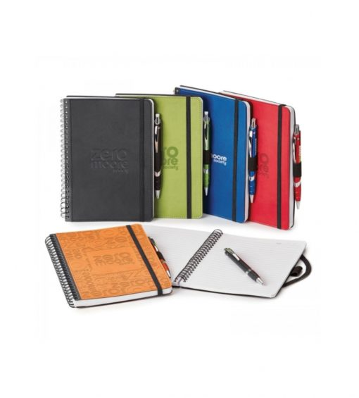 Custom Notebook Set. custom printed notebooks seattle screen printing and promotional product agency