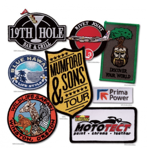 Custom Patches Seattle. Seattle band merch supplier. Seattle Custom embroidery.