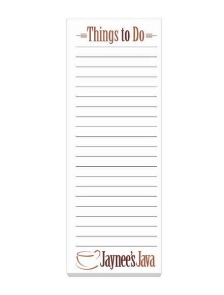 Custom Printed List Notepad Seattle. Seattle Screen Printing and Promotional Product Supplier. Cooler Branded Merch! We Drop Ship!