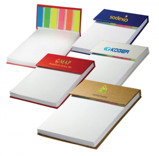 Sticky Flag Jotter Flag with your branded logo! Seattle Screen Printing and Promotional Products. We offer the COOLEST promotional products.