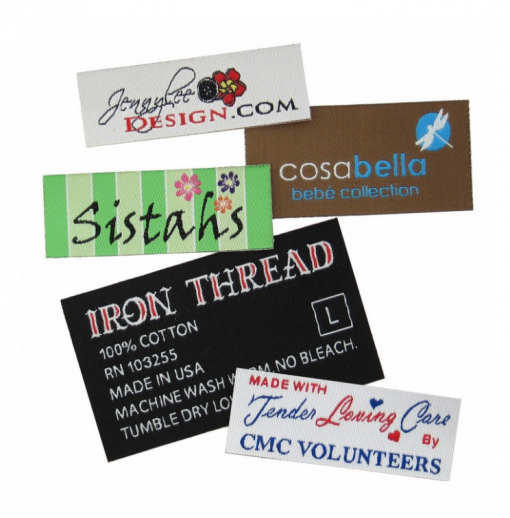 custom embroidered fabric labels Seattle embroidery