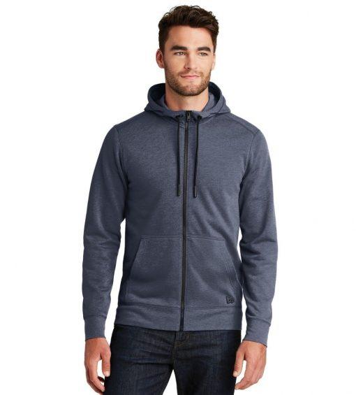New Era® Tri Blend Fleece Full Zip Hoodie