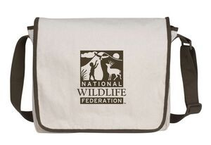 Recycled Cotton Messenger Bag- Promotional Product Supplier. Seattle Screen Printing