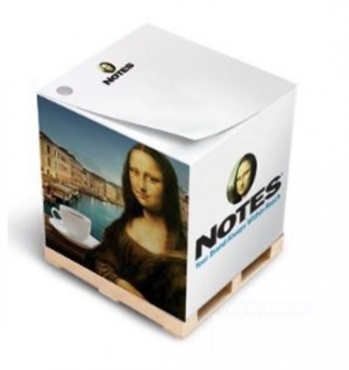 Printed Note Cubes. Add a full color image for custom branded note cubes! Seattle Screen Printing & Promotional Product Supplier.