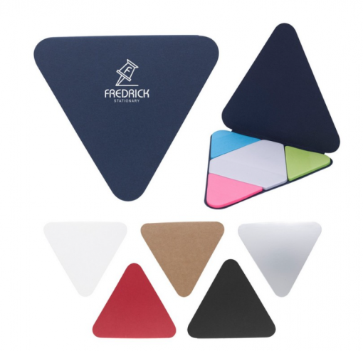 Triangle Sticky Notes Pad for your branded business! Seattle Screen printing & Promotional Product Supplier. We Drop Ship!