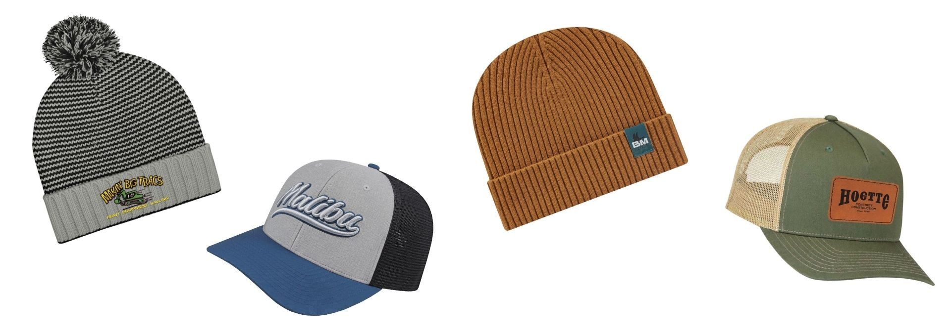 Custom Branded Hats. Custom embroidery hats or screen printed hats for your branded business. Seattle screen printing and promotional products supplier